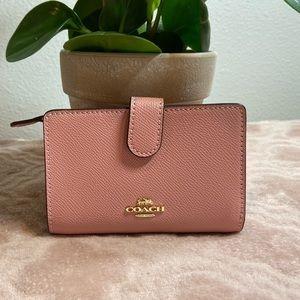 Coach Medium Corner Zip Wallet Pink